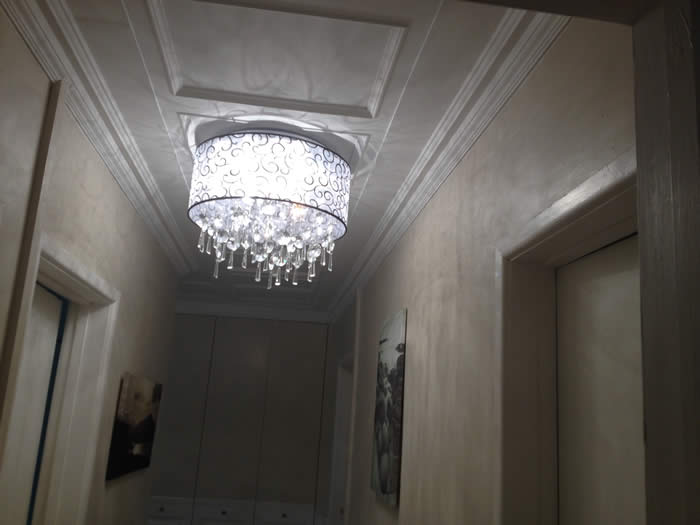 Amazing panelled ceiling transformation..