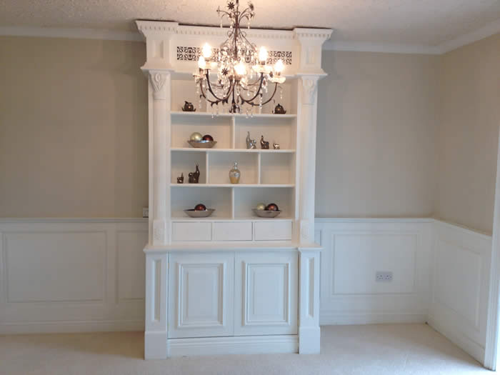 bookcase by wall panelling experts
