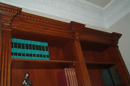 beautiful hand crafted bookcases by wall panelling ltd