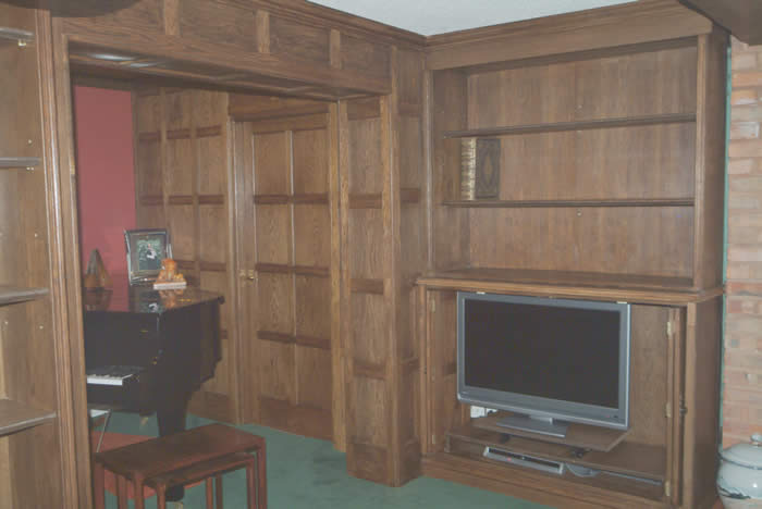 oak wall panelling for studies made in the uk by wall panelling experts for Dr Torrance cheshire