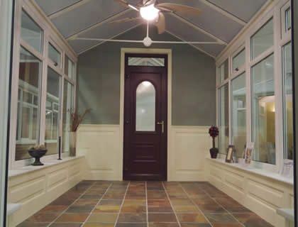 conservatory wall panelling showroom Yorkshire