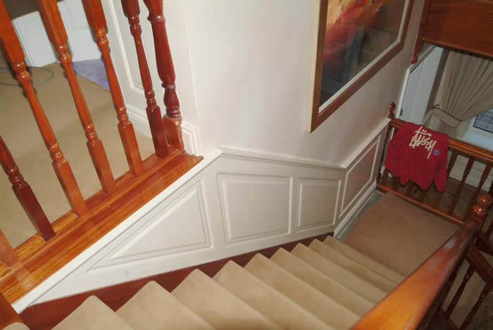 staircase wall panelling  ideas by wall paneling experts made in the uk formby famous premier footballer