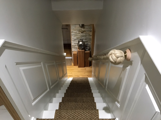 georgian stair wall panelling by wall panelling experts