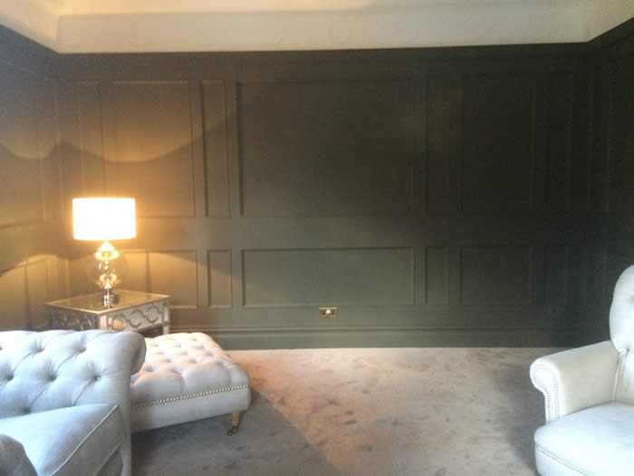 full height beaded panelling