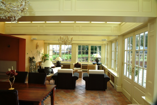 wall panelling for an orangery by wall panelling experts nevinson grappenhall cheshire