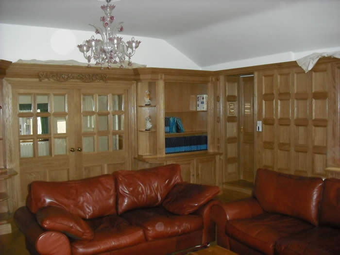 oak/oak veneer wall panelling by wall panelling ltd