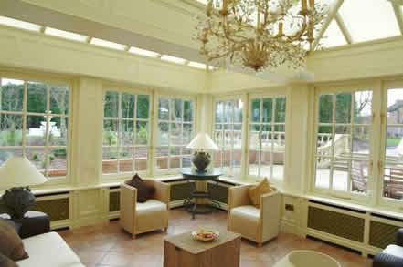 inside conservatory wall panelling cheshire british made