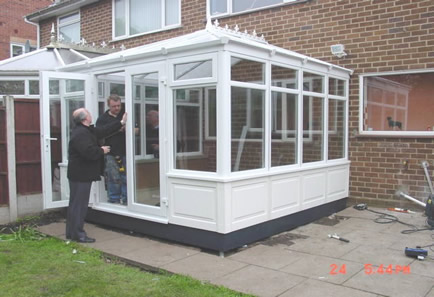 outside conservatory panelling uk