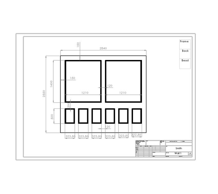 wall panelling drawings and information