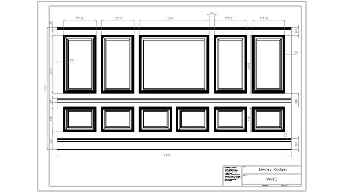 architectural personalised panelling drawings by wall panelling experts