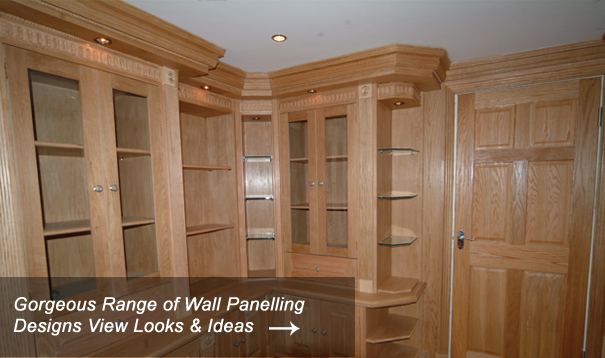 Study Wall Panelling & Bookcase Designs