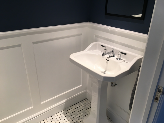 Panelling in bathroom