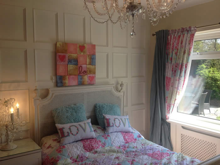 beaded bedroom wall panelling