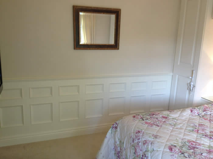 bedroom panelling acorn cottage