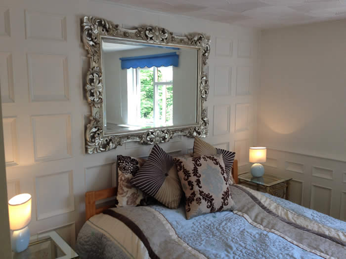 beaded bedroom wall panelling ideas the secret garden cottage south wales