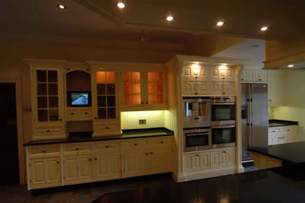 hand made kitchen cabinets by wall panelling tld