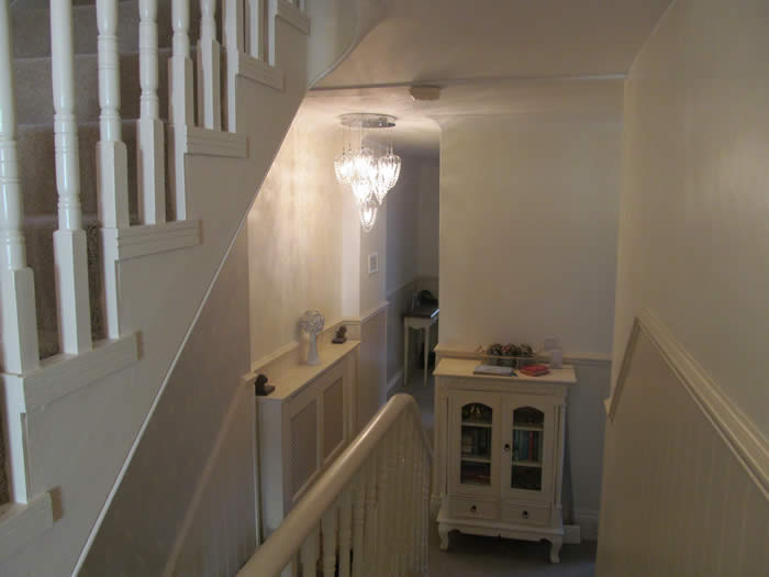 read and bead wall panelling staircases and hallways and landings