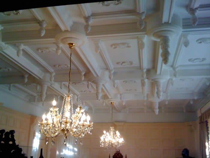 stunning wall paneled ceiling by wall panelling experts lancashire