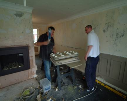 fitting wall panelling by the wall panelling experts