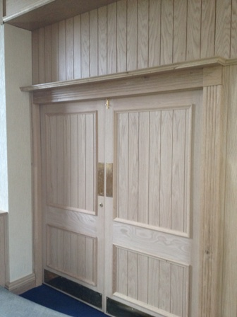 oak panelling to recover existing doors