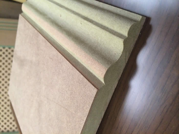 close up of our high quality ogee skirting
