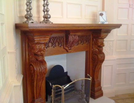 matching fireplace created by wall panelling cheshire