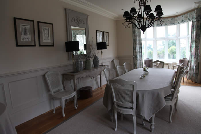 dining room beaded panelling