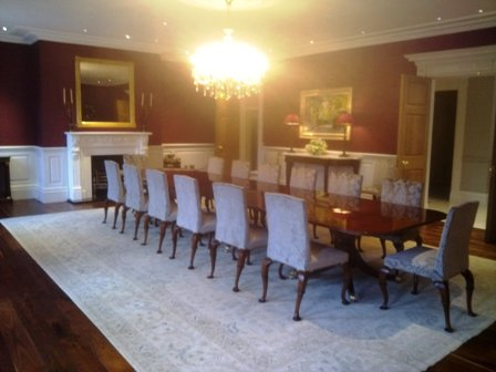 dining room wall panels by wall panelling bellefield hall cheshire