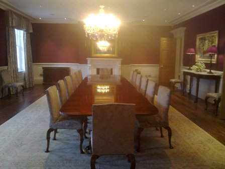 dining room wall panels by wall panelling bellefield hall
