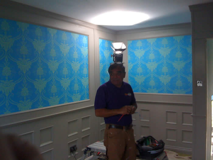 diy sos wall panelling experts dining room wall panelling bbc1 diy sos julia kendrell made in the uk bbc1