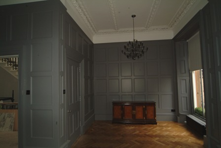 wooden wall panelling for colin and justin glasgow