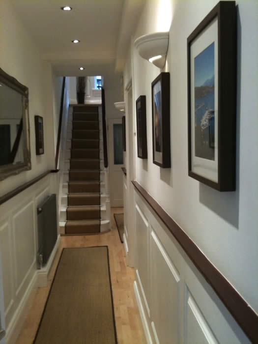 georgian staircase wall panelling made for almorah road london by wall panelling experts