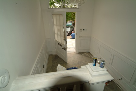 entrance hall wall panelling for colin and justins home glasgow by wall panelling experts