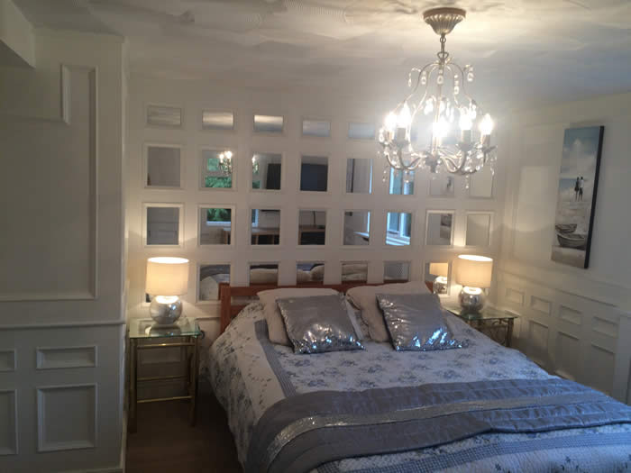 full height bedroom panelling