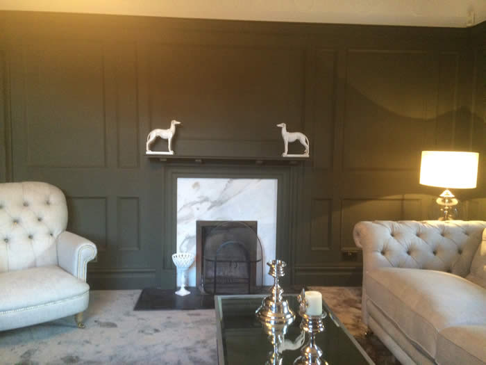 fireplace wall beaded panelling