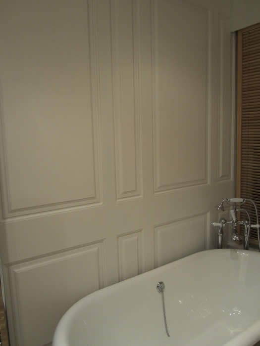 wall panelling  for bathroom tv makeover