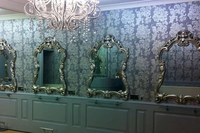 georgian style panelling in anita james hair swansea