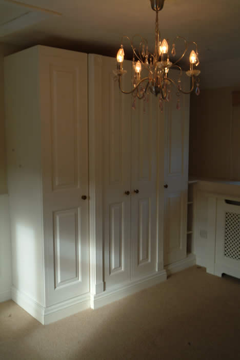 bedroom wardrobes by wall panelling experts the secret garden cottage south wales
