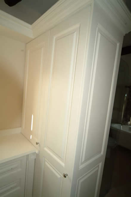 hand made bedroom wardrobes from wall panelling cheshire