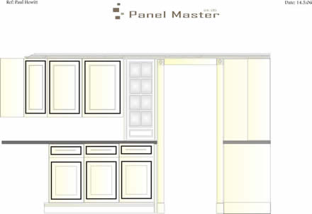 hand drawings for hand made kitchens from wall panelling tld