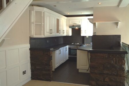 bespoke kitchen by wall panelling lancashire