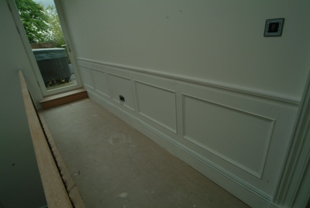 landing wall panelling for colin and justin's main home in glasgow wall panelling ideas by wall panelling ltd