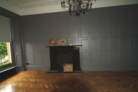 dinign room or drawing room wall panelling for colin and justins home in glasgow by wall panelling ltd