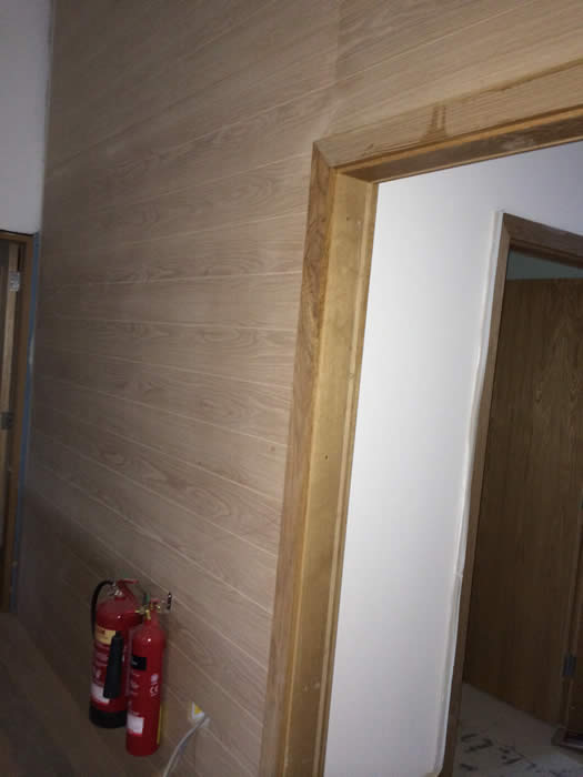 majestic wines 12mm oak veneer tongue and groove panelling