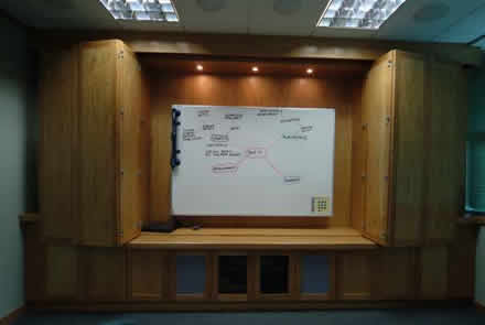 media surround made to measure for a boardroom by wall panelling for brooksons cheshire panelling for boardrooms made in the uk by wall panelling experts