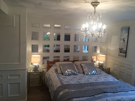 bedroom beaded panelling