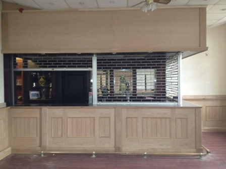 oak panelling for a bar