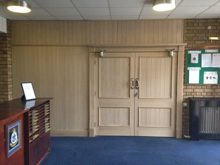 tongue and groove oak panelling at MOD