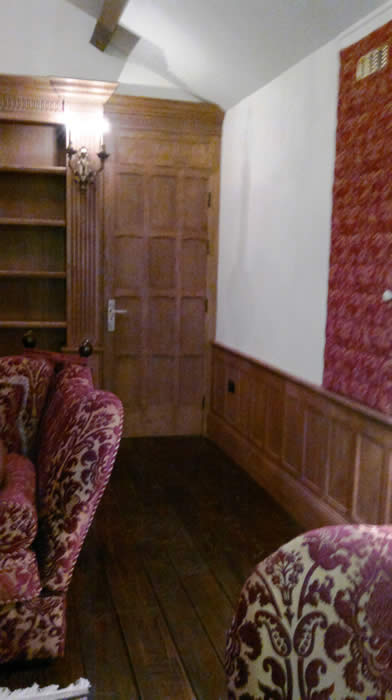 oak panelling at mobberley hall cheshire