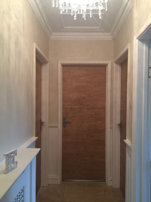 oak veneer panelled recovered  doors